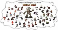 Miniature Table Games - 10 Assorted DD Dungeons and Dragons Miniatures Figures Minis >>> Check out the image by visiting the link.