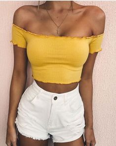 Summer fashion ideas for spring outfits 2019 Cute Summer Outfits, Spring Outfits, Casual Outfits, Yellow Outfits, Summer Clothes, Holiday Outfits Summer 2018, Teen Summer Outfits, Ski Outfits, Skater Outfits
