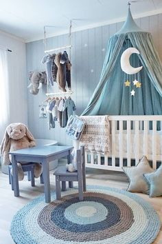 Inspiration from instagram - Lotte Sørli @lotte.sorli - blue, black and white, boys room ideas, grey, black and white boys room, Scandinavian style, monochrome design kids room ideas, nursery