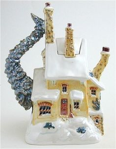 Christmas House Teapot