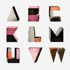 Creative Letters, Borja, Bonaque, Whitezine, and Design image ideas & inspiration on Designspiration Typography Letters, Graphic Design Typography, Typography Images, Japanese Typography, Modern Typography, Typographie Inspiration, Hand Images, Types Of Lettering, Type Fonts