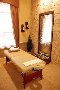 """How To Create A Comfortable Massage Environment"" Article.  Love the flat water fountain on the wall!"