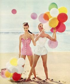 vintage swimsuit inspiration from Seventeen