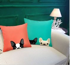 Cute Puppy Sofa Cushion Pillowcases! Order yours here ➩➩       http://amzn.to/2qqCmBE