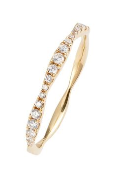 Bony Levy Aviva Diamond Stacking Ring available at #Nordstrom