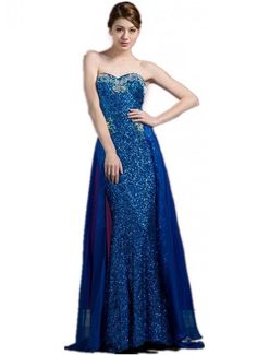 Formal Prom Dresses   ... prom, senior full sequin strapless long prom dresses, pageant gowns