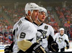 Pascal Dupuis #9 and Chris Kunitz #14 Pittsburgh Penguins