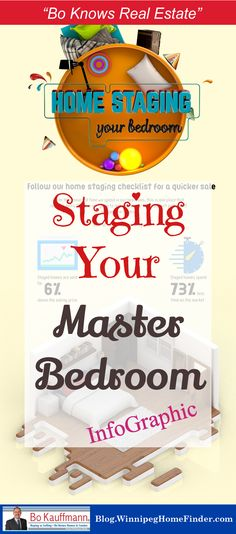 How to stage your master bedroom | Infographic on home staging your bedroom | Staging your master bedroom infographic | #HomeStaging #Staging #HomeSelling #Bedroom #MasterBedroom