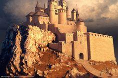 Concept Fantasy Architecture and Interior Fantasy City, Fantasy Castle, Fantasy Places, Fantasy Map, Medieval Fantasy, Fantasy Artwork, Fantasy World, Fantasy Art Landscapes, Fantasy Landscape