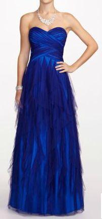 Amazon com david s bridal strapless mermaid print prom dress with