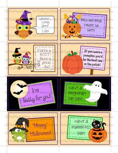 Lunchbox notes.  Halloween pack.  Great encouragement for your children.  Lunch box