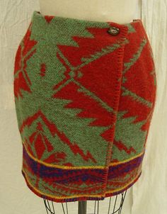 Skirt, wool, Ralph Lauren designer, American, 1991