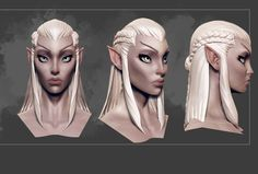 """Race Inspiration: Elfen (structure of face and ears), the """"Elf"""" race in the story. They are old, set in their ways, and view the younger races as inferiors."""