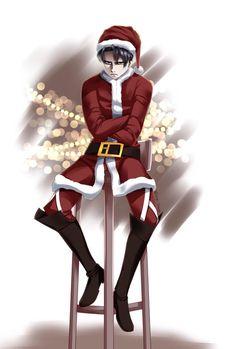 Hey into the Christmas spirit with Levi Lady Tsunade, Hanji And Levi, Levi Mikasa, Levi Ackerman, Levis, New Year Anime, Attack On Titan Game, Mery Chrismas, New Year Art