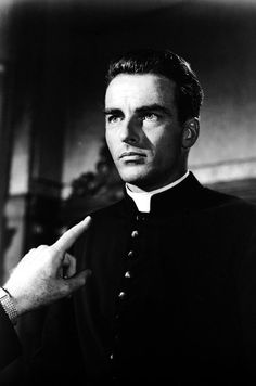 """Montgomery Clift in """"I Confess"""" (dir. Alfred Hitchcock)"""