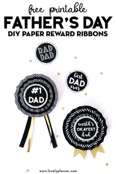Free Printable DIY Paper Reward Ribbons for Fathers Day! Easy craft for kids! Great Father's Day Gifts, Diy Gifts For Kids, Easy Crafts For Kids, Diy For Kids, Gifts For Him, Diy Father's Day Crafts, Father's Day Diy, Homemade Fathers Day Gifts, Fathers Day Crafts