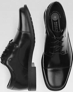 d7866ac23a39 Rockport Ellingwood Black Waterproof Lace Up Casual Shoes Rockport Shoes