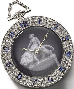 Clock Hourglass Time:  Art Deco #Watch, 1927.