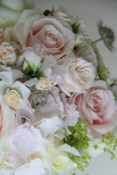 The Flower Magician: Nude Pink & Ivory Wedding Bouquet