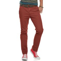 Men's Urban Pipeline® Slim-Fit Chino Pants, Size: 38X32, Dark Red