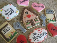 Send these cookies to someone who just bought a house. Cookies by Auntie Beas bakery Home Sweet Home