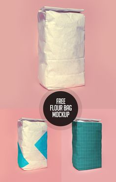 Free Flour Bag PSD Mockup #freepsdfiles #freepsdmockups #freebies #mockuptemplate #psdmockup