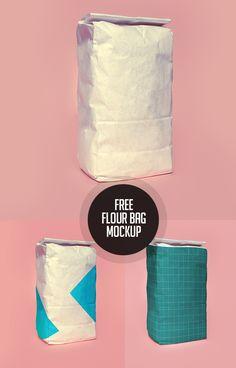 Free Flour Bag PSD Mockup #freepsdfiles #freepsdmockups #freebies #mockuptemplate #psdmockup