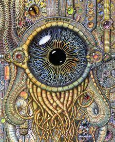 """The Vault of Retro Sci-Fi — zzpsiconautazz: """"Bio-mechanical eye III""""by..."""