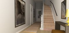 interior design hallway - hall rug by Limited Edition - 3d impression project in progress by choc studio