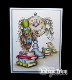 Stampendous Owl Clock copy