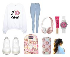 """""""Donut"""" by martineeikefjord on Polyvore featuring Topshop, Off-White, JanSport and Too Faced Cosmetics"""