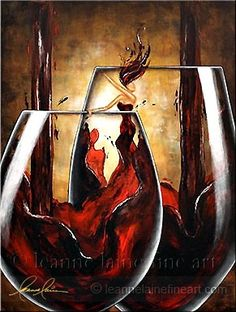 Heiress of Reserves: Classic Wine painting of bottle and glass artwork