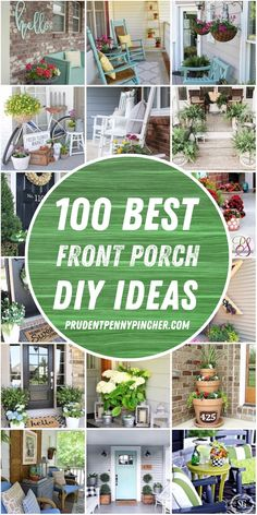 small front porch decorating ideas Brighten up your front porch with these DIY front porch decorating ideas. From farmhouse porches to porch ideas for small porches on a budget, there are DIY projects for everyone that will improve your curb appeal. Modern Front Porches, Summer Front Porches, Farmhouse Front Porches, Small Porches, Summer Porch Decor, Farmhouse Garden, Farmhouse Decor, Front Porch Planters, Front Yard Decor