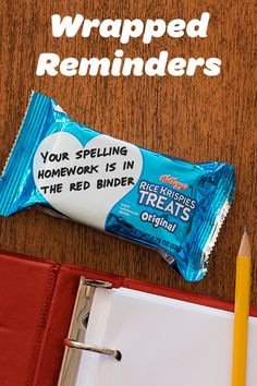 From class schedules  to world capitals, pack your kids lunch boxes with something  sweeter than flash cards!  They're easy kids snacks great for after school & the lunchroom.  Add a helpful reminder  to your Rice Krispies Treats wrappers, and help your kids remember the important stuff...like how much you care!