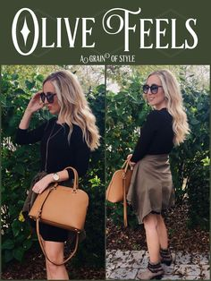 Olive Feels | Spring Fashion | Booties | A Grain Of Style | New Post |