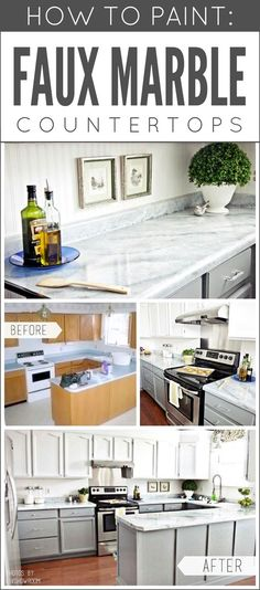 Transform Any Countertop, Desktop, Or Vanity Into A Custom Faux Marble  Finish Using Giani™ Stone Paints For Countertops.