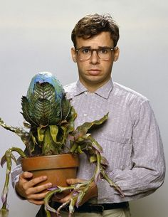 Seymour Krelborn and Audrey II in Little Shop of Horrors (1986)