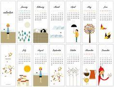 2012 Calendar by Blanca Gomez - blancucha on Etsy