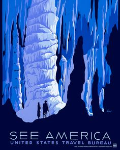 See America - Vintage 1930s Travel Poster - Restored artwork originally published by the Works Progress Administration during the Great Depression promoting American tourism.