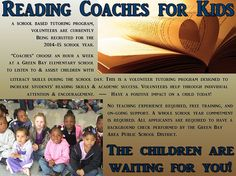 Reading Coaches for Kids is a program run by the Volunteer Center to increase and improve literacy skills for kids.