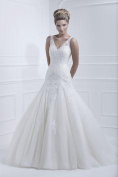 Style 11364   Designer: Ellis Bridals Neckline: V-neck Hem: Floor length Silhouette: Ballgown