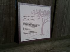 Tree of Love Layered Wedding Invitation