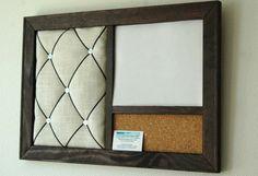 Corkboard Magnetic Whiteboard Dry Erase Board & by KaiHinaCoastal