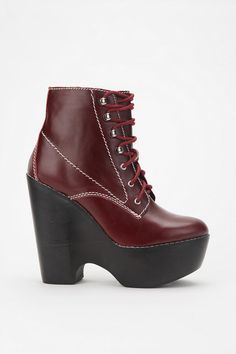 Jeffrey Campbell Leather Tardy Boot  Trying sooooooo hard to find this pair atm. It's on my MUST HAVE List for about a year now...