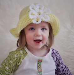 Ravelry: Spring Daisy Sun Hat pattern by Bonnie Potter