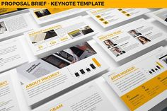 Proposal Brief Keynote Template by inspirasign on @creativemarket