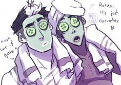 Voltron: Lance & Kuro - face mask with Lance - By: Project Ava aka Mizu-no-Akira