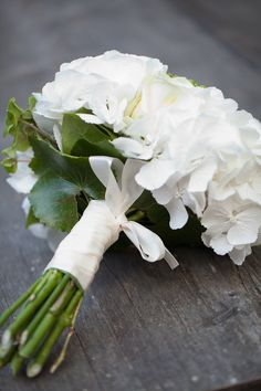 Photo by Absolutely white - decided I definitely want all white hydrangea bouquets
