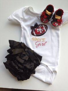 San Fransisco 49ers Baby Gift Set by saluna on Etsy