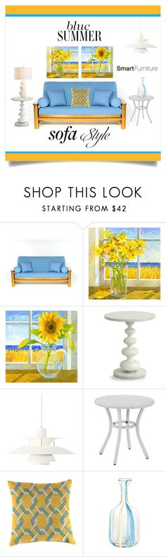 """""""Blue skies and sunny days, beach decor"""" by outfitsloveyou ❤ liked on Polyvore featuring interior, interiors, interior design, home, home decor, interior decorating, Redford House, Louis Poulsen, Crosley and Jordan Brand"""